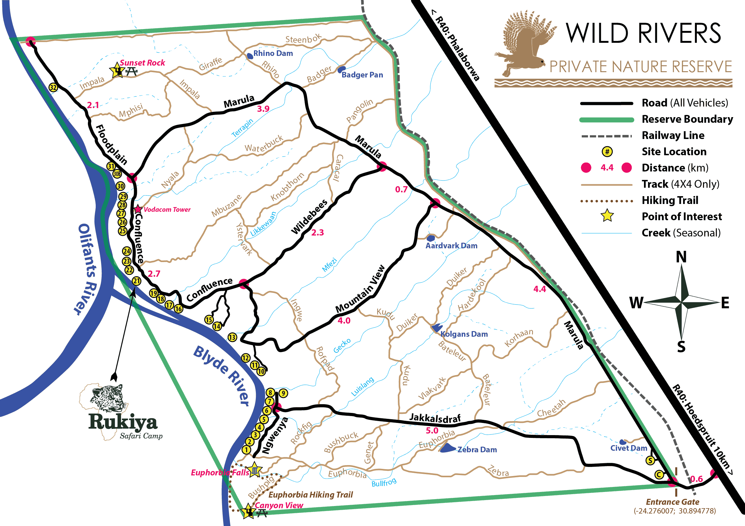 Wild Rivers Private Nature Reserve Map